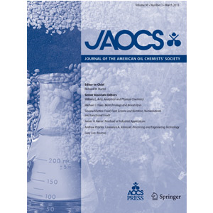 PRINT Subscription - Journal of the American Oil Chemists' Society (JAOCS)