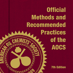 Official Methods and Recommended Practices of the AOCS, 7th Edition, 2nd Printing